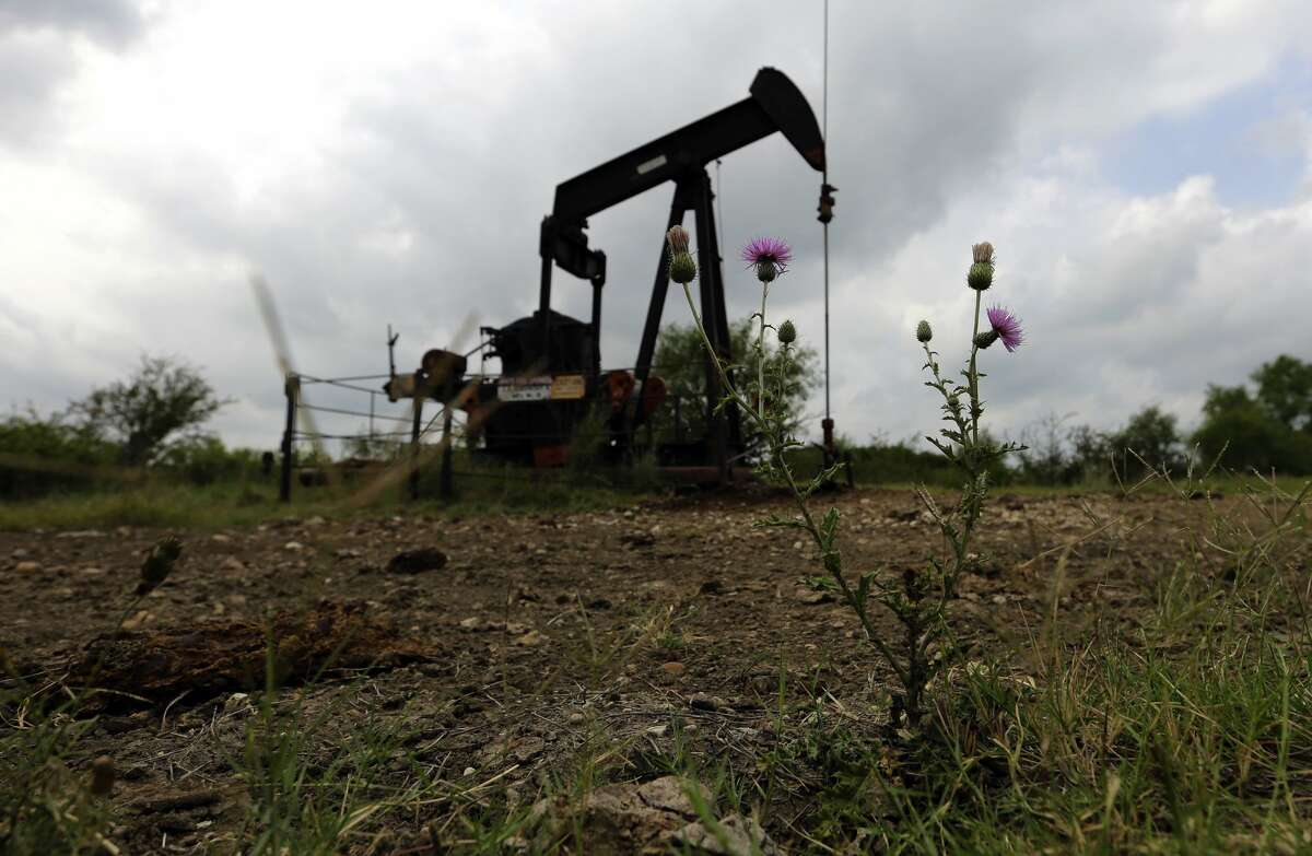 Pumping units sit idle on a ranch in South Texas in this 2017 file photo. A new group, Commission Shift, is calling for reform of the Railroad Commission, issuing a report criticizing the agency's efforts to plug abandoned wells.