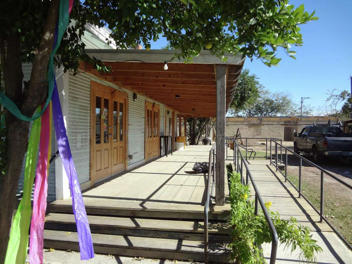 A wide porch was added to the casa that anchors the Esperanza Peace and Justice Center's West Side cultural project.