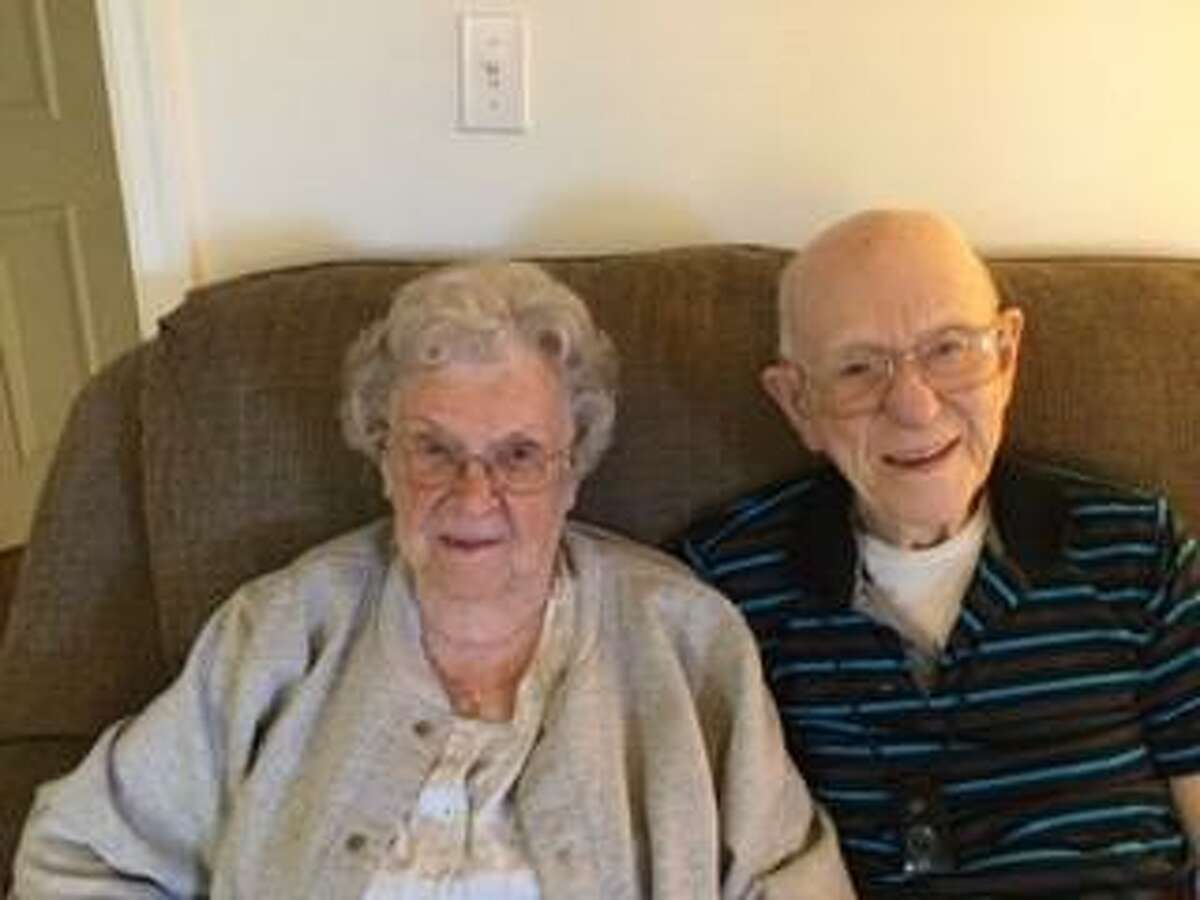 Clarence Joyce and his wife Mary the day before Clarence's 102nd birthday.