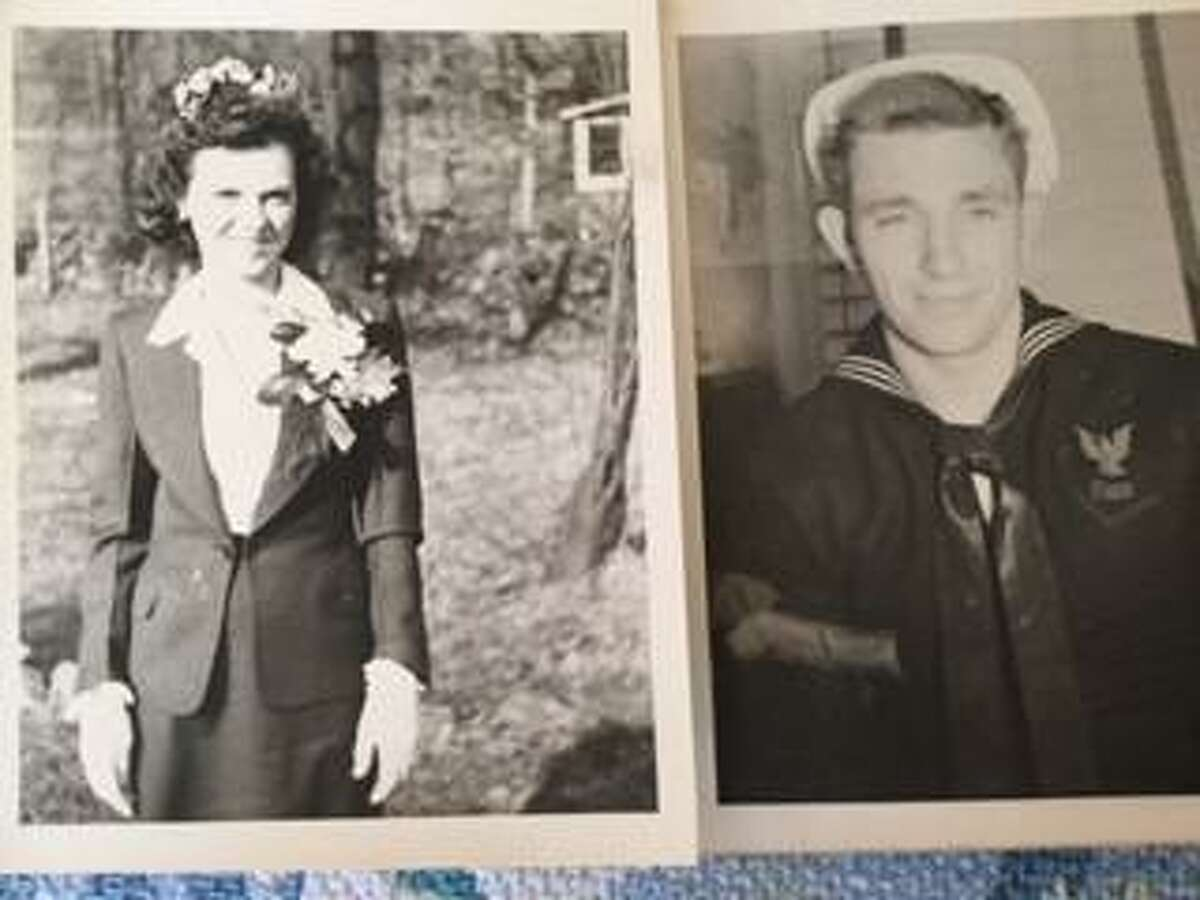 Couple Mary and Clarence Joyce around the year 1945