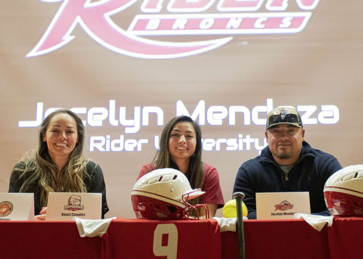 Coahoma softball player Jocelyn Torres-Mendoza pictured with her family after she signed to play at NCAA Division I Rider University. CoahomaISD photo