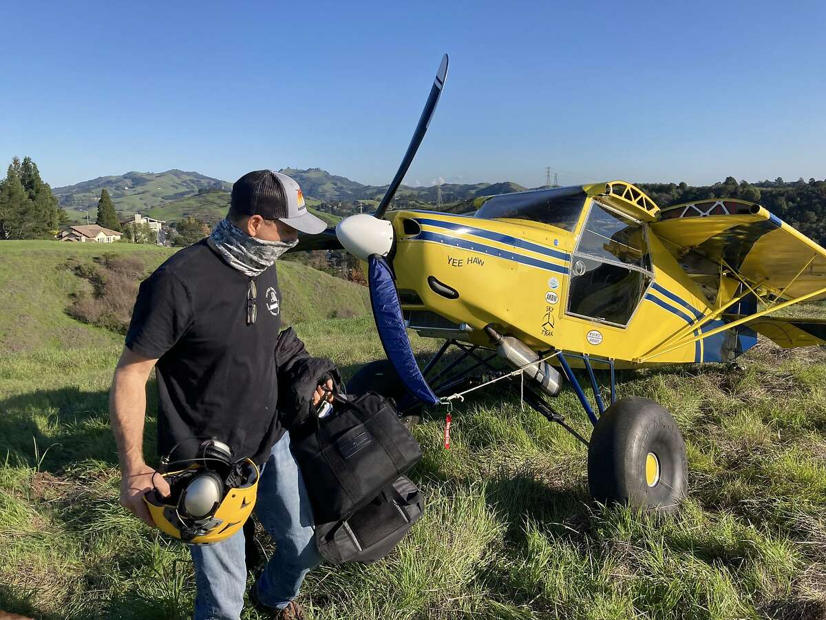Steve Marlin, 62, of Oakland, landed his plane along the Rim Trail above the Campolindo neighborhood of Moraga after his engine failed. He was uninjured and the plane undamaged.