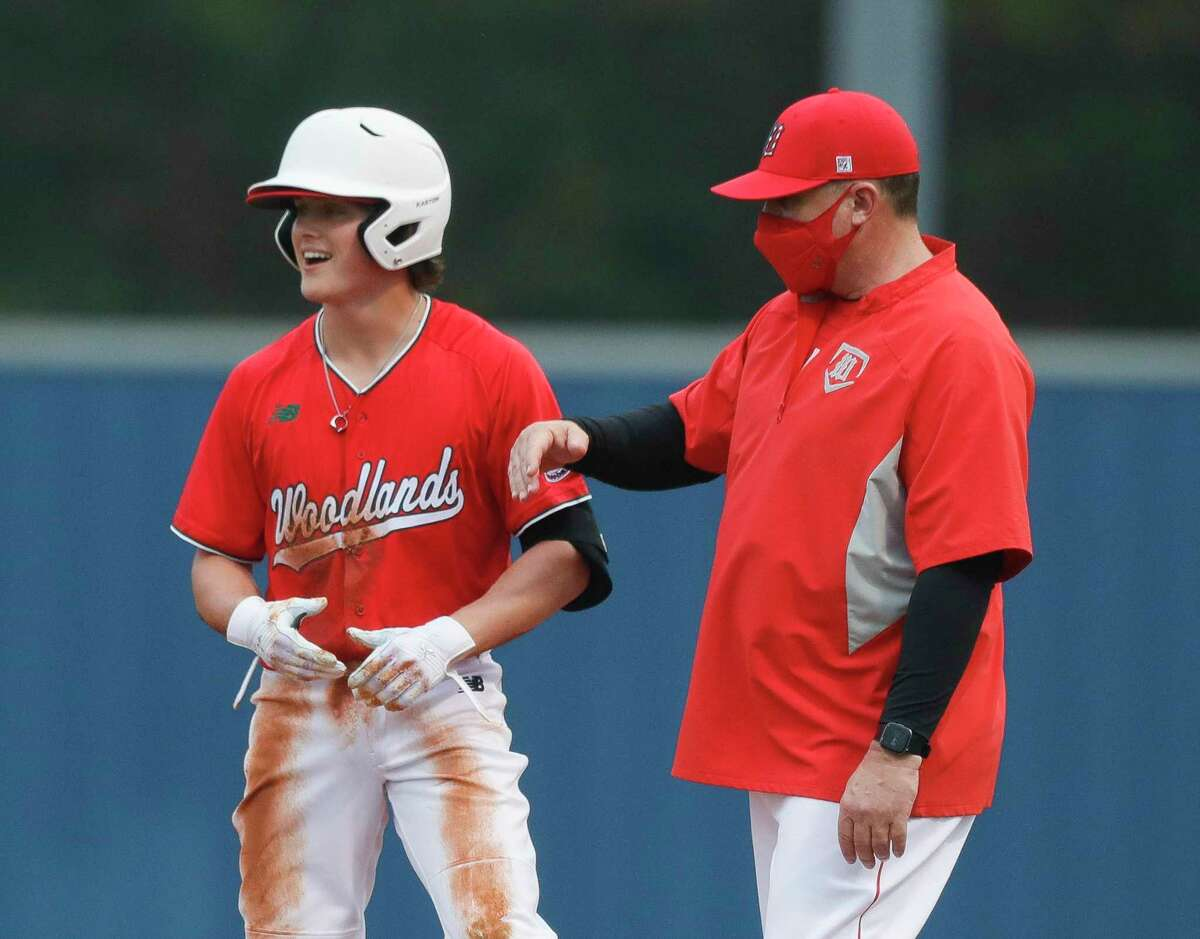 The Woodlands' Caden Miller, shown here last month at Kingwood, drove in three runs against Katy on Friday.