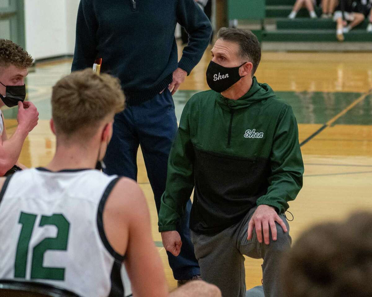 Shenendehowa boys' basketball coach Tony Dzikas guides the Plainsmen to a 15-0 mark in his final season. (Jim Franco/Special to the Times Union)