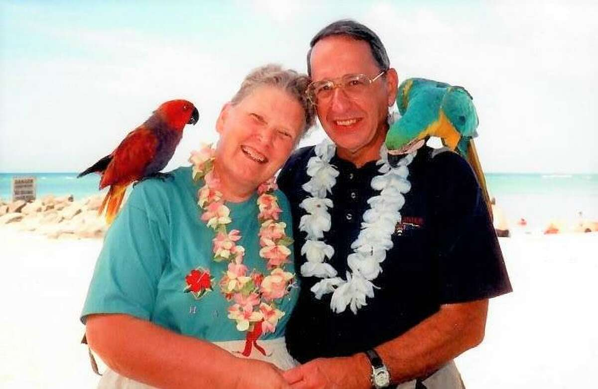 Fred and BeverlyMarchionna on vacation in Hawaii in 2011. Fred Marchionna, a retired manager at PerkinElmer Corp., was the first Connecticut resident to die of COVID-19.