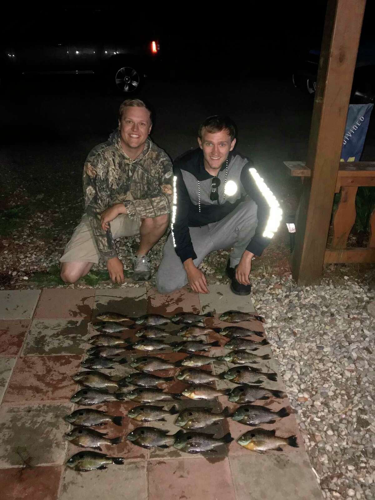 Tyler Clugston (left) and Ryan Kolenbrander have enjoyed previous successes with fishing. (Pioneer photo/John Raffel)