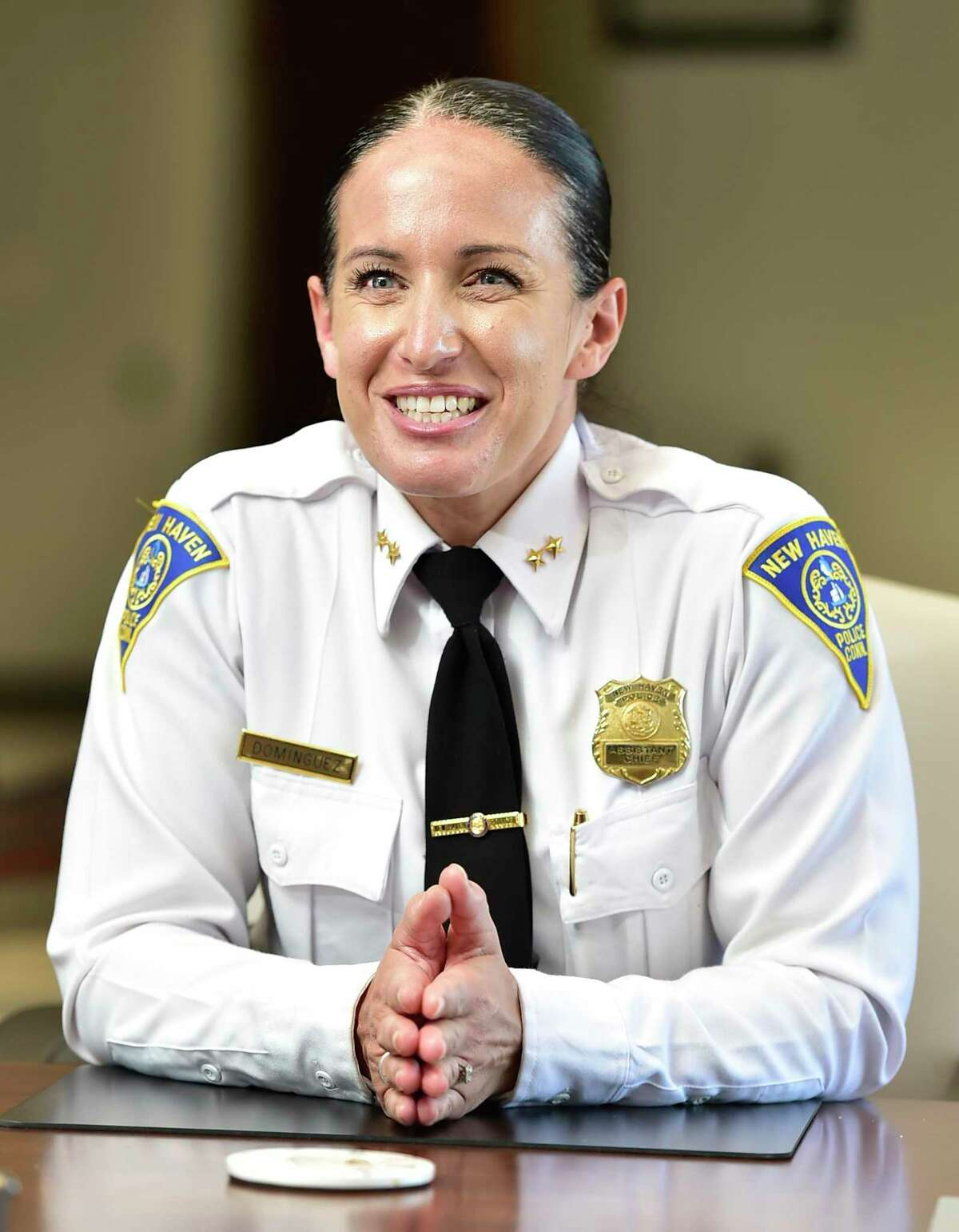 New Haven Interim New Haven Police Chief Renee Dominguez, in her office on Friday, March 12, 2021.