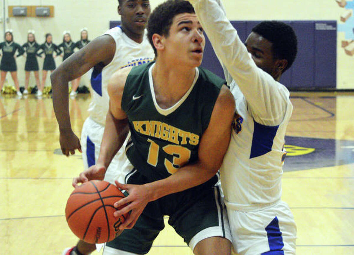 AJ Smith of Metro-East Lutheran scored 40 points in his team's 95-50 win over Mount Olive Friday night.