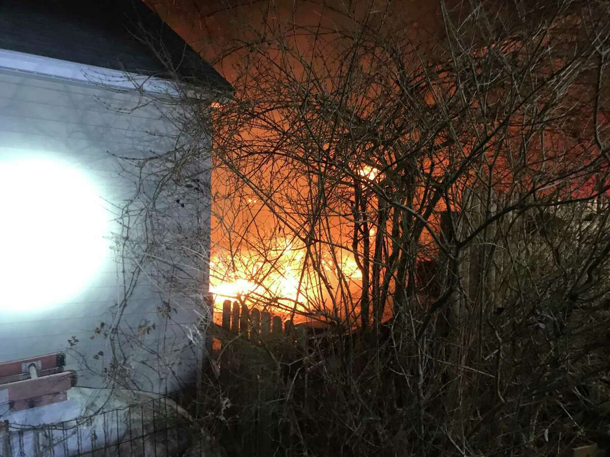 Photos of a fire on Ruane Street in Fairfield on March 13, 2021.