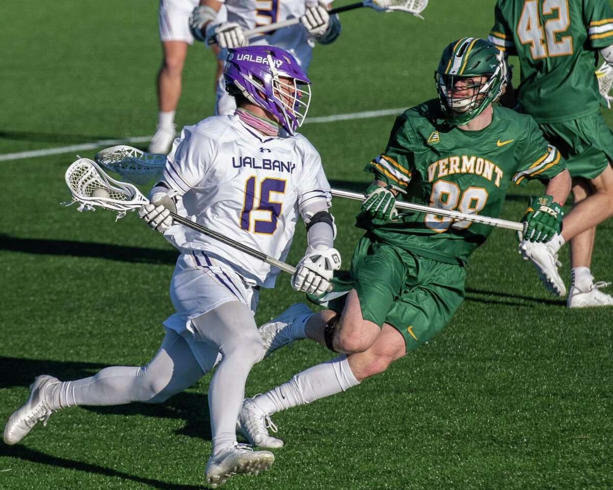 UAlbany graduate student Doug Goldsmith and his teammates may get to play Vermont on April 28. (Jim Franco/Special to the Times Union)