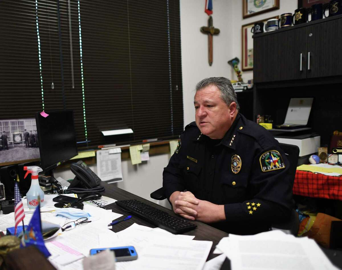 Leon Valley Police Chief Joe Salvaggio formerly worked for the San Antonio Police Department. Friday, June 19, 2020.