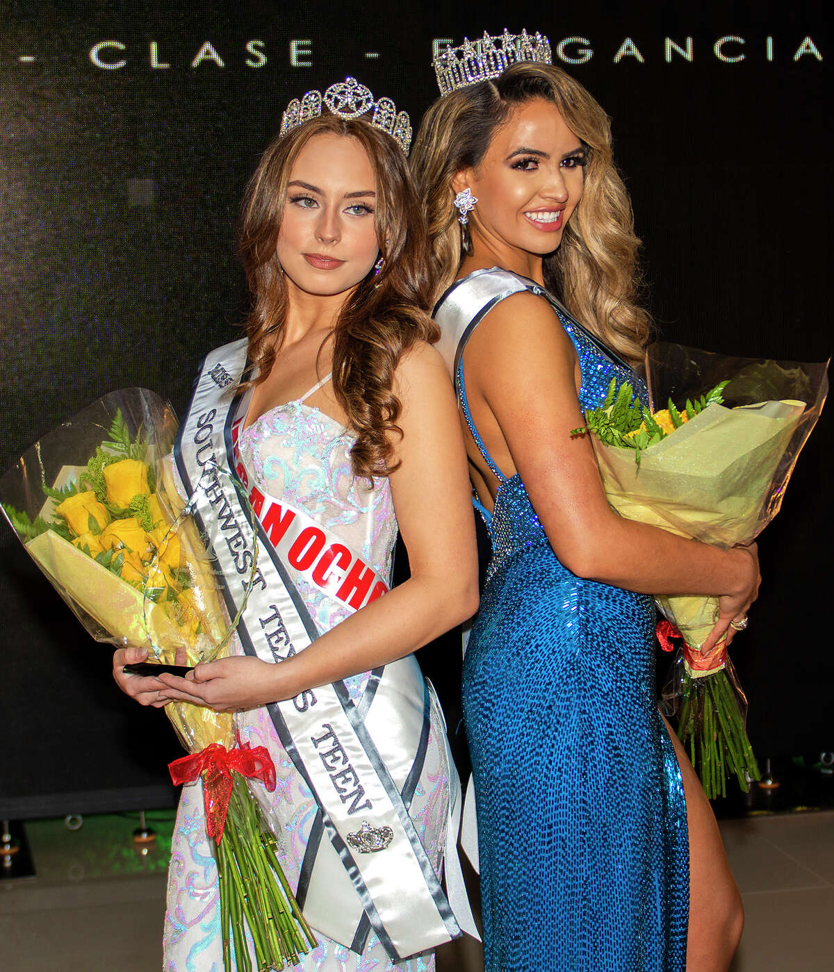 Megan Ochoa and Celissa Pena will advance to the state level, representing Southwest Texas at the Miss Texas USA and Miss Texas Teen USA competitions