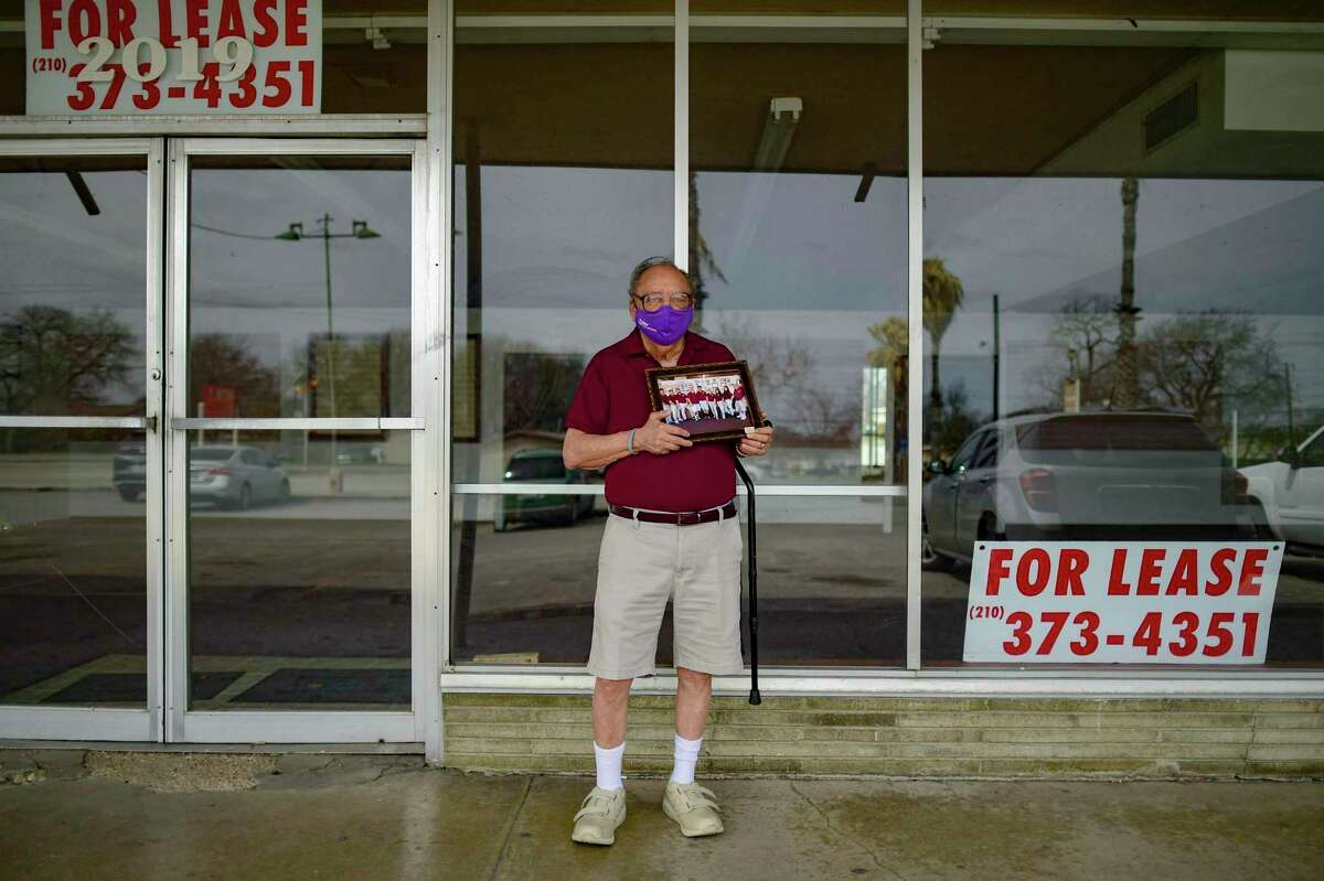 Samuel Hernandez, 81, stands in front of his now-closed School Shoes Unlimited store, which opened in 1995, on March 11. He would have liked to keep going, but the rise of online shopping and the isolate-at-home policies of the coronavirus pandemic prompted him to shut down the store and retire Nov. 30, 2020.