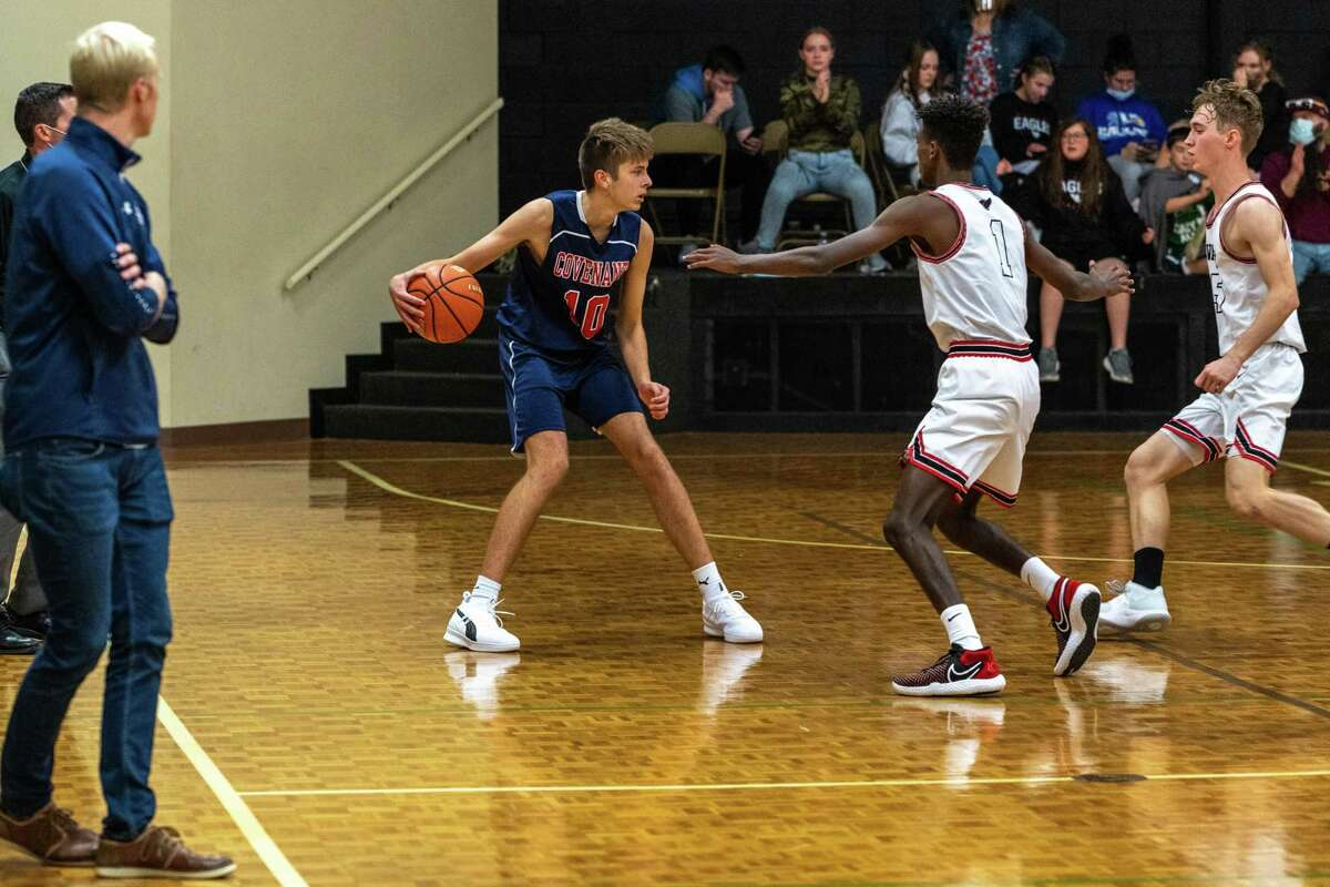 Covenant Academy defeated Faustina Academy-Irving 50-37 in the TAPPS 1A boys basketball state championship game Saturday, March 13, at College Station High School.