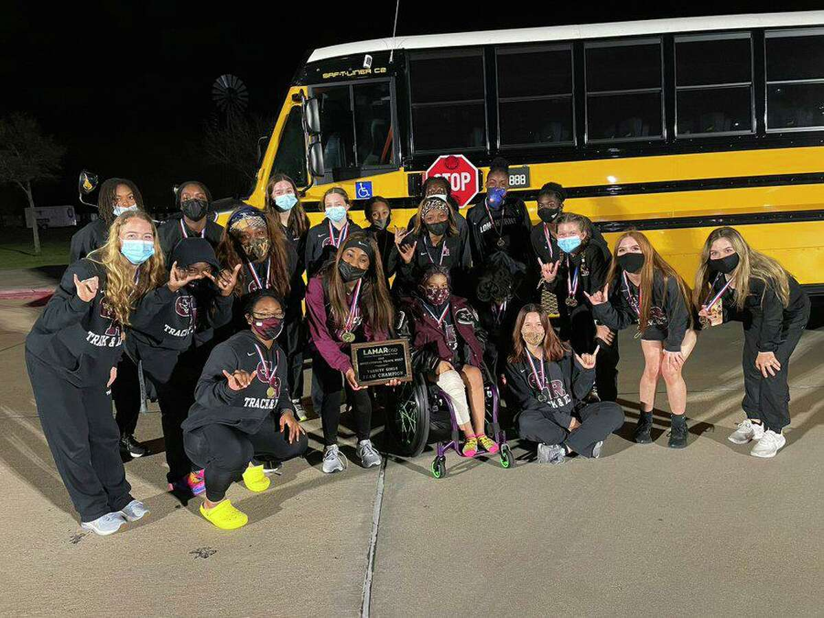 The George Ranch girls track and field team won the championship at the Lamar Consolidated ISD Relays.