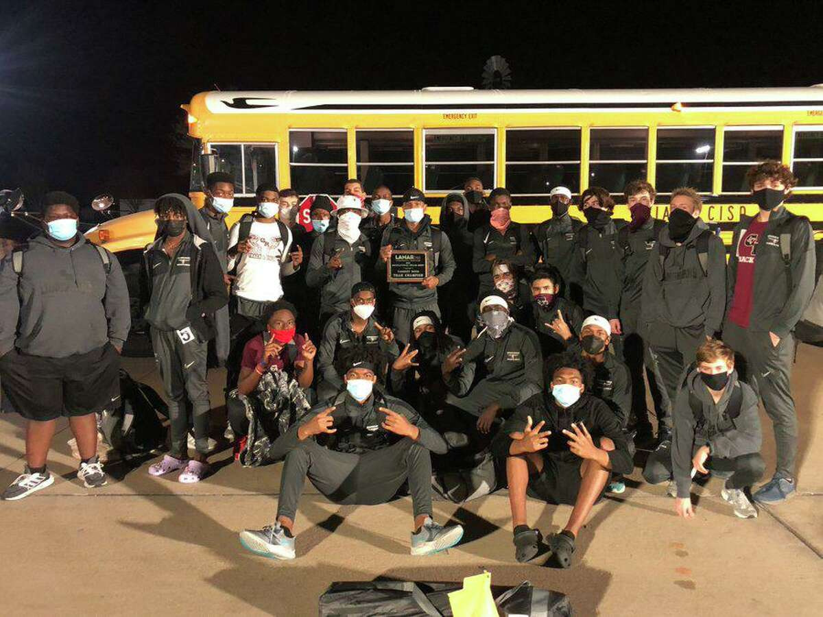 The George Ranch boys track and field team won the championship at the Lamar Consolidated ISD Relays.