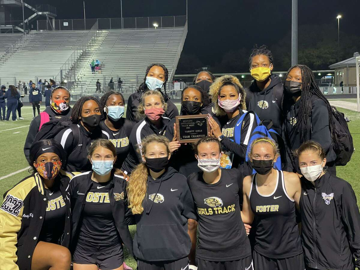 The Foster girls track and field team won the championship at the Lamar Consolidated High School Mustang Relays.