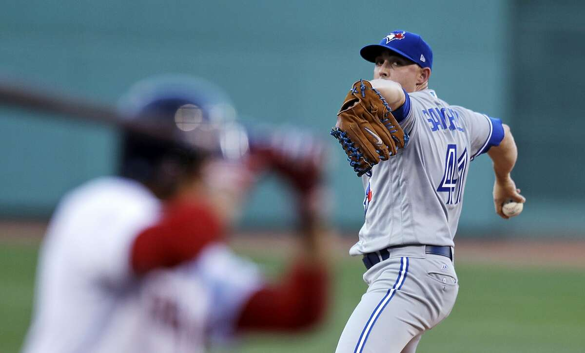 Aaron Sanchez, who signed a one-year free agent deal with the Giants, was an All-Star with the Blue Jays in 2019.