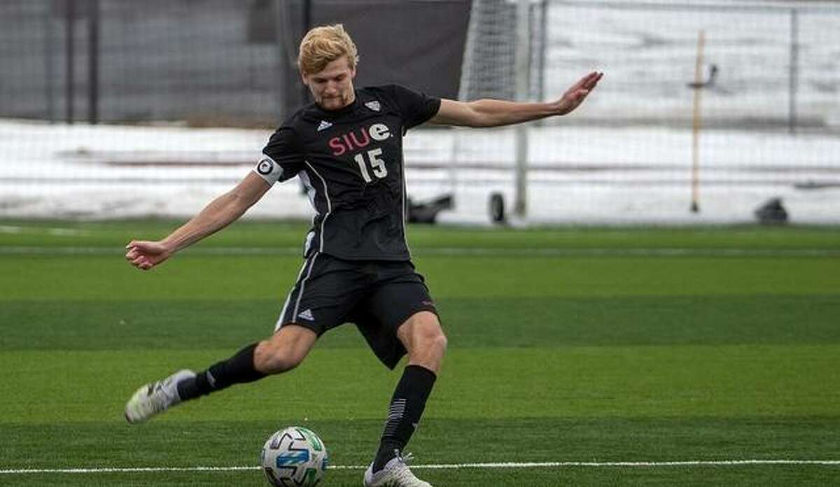 SIUE's Jack Edwards in action for the Cougars.