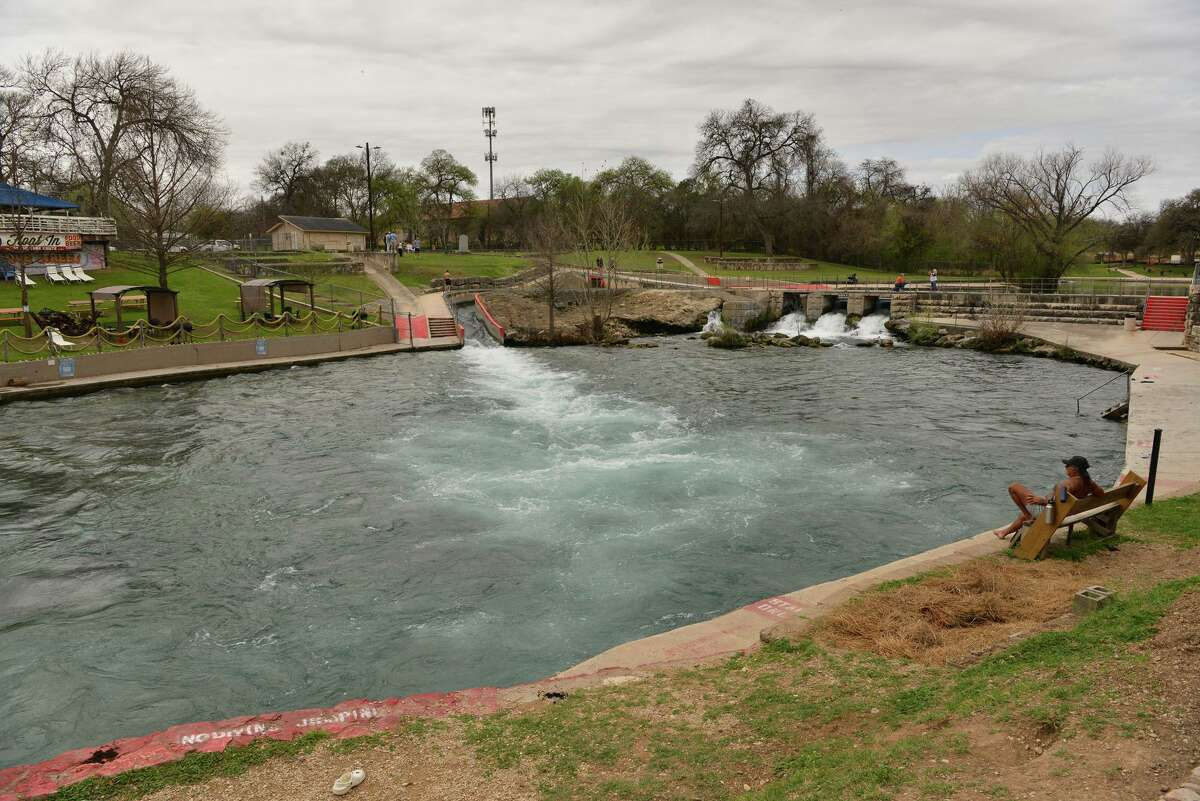There were very few folks in the water at the New Braunfels tube shoot Sunday as tubing season begins and slightly more normal spring break activities.