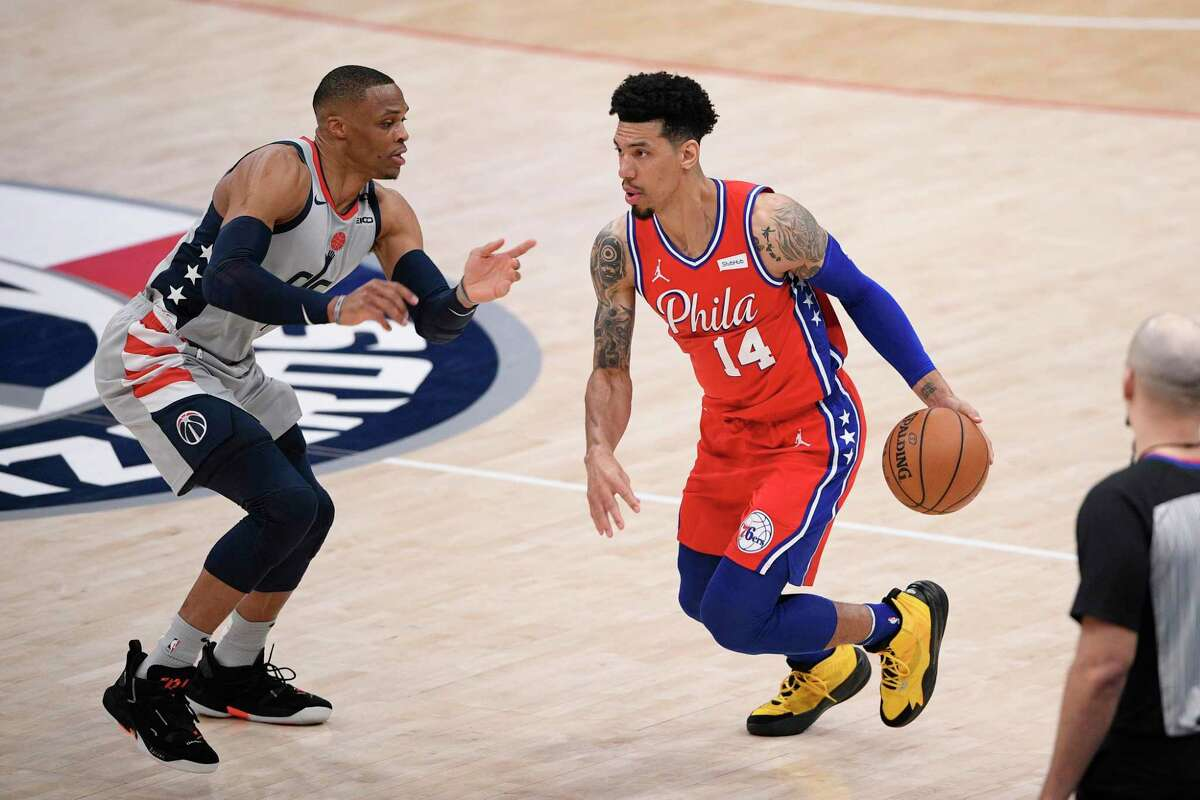 The Spurs squared off against Danny Green (14), who played for the franchise's 2014 NBA championship team, on Sunday night in Philadelphia, where he's started every game this season.