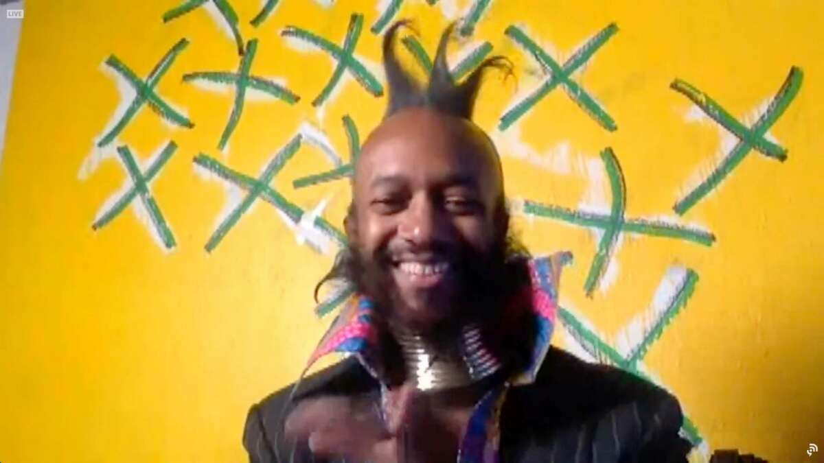 """In this screengrab released on March 14, Fantastic Negrito accepts the Best Contemporary Blues Album award for """"Have You Lost Your Mind Yet?"""" at the 63rd Annual GRAMMY Awards Premiere Ceremony broadcast."""