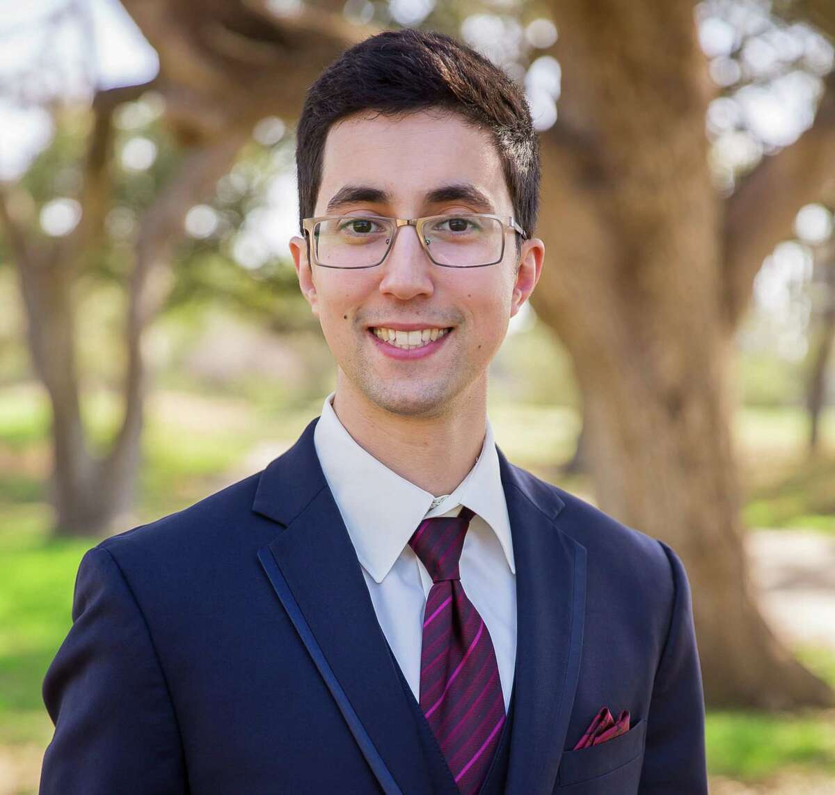 Blake Rawitt, a software engineer working for the Air Force, ran for the District 7 seat on the Northside ISD board.