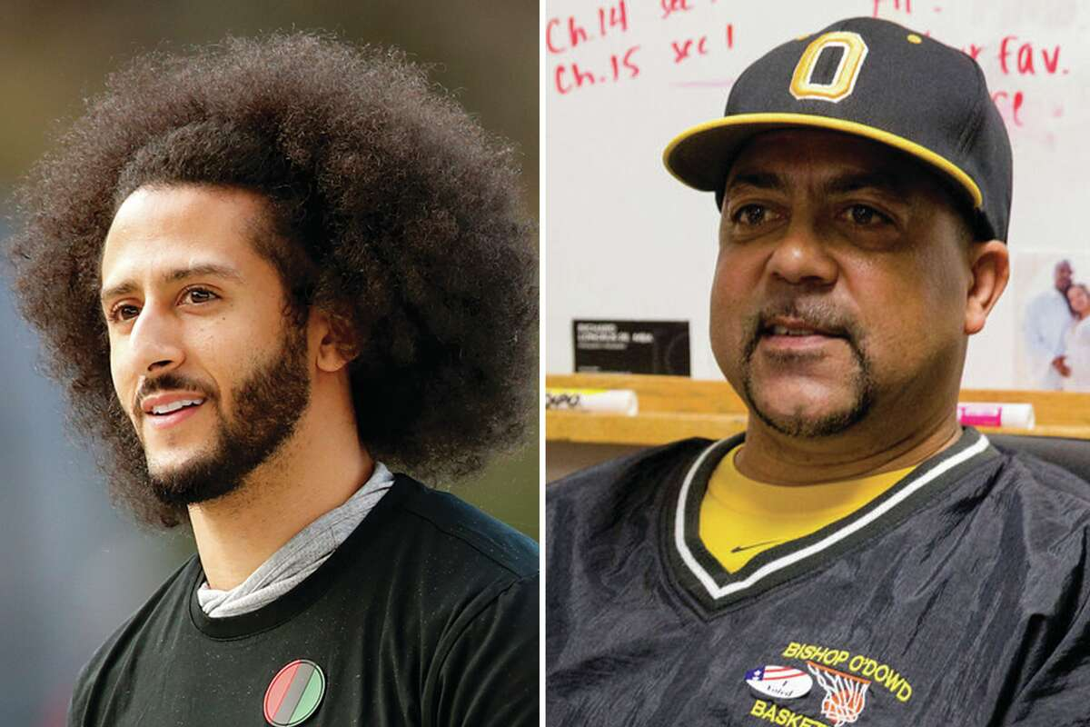 Colin Kaepernick, left, and Lou Richie, know all the world's not on their side.