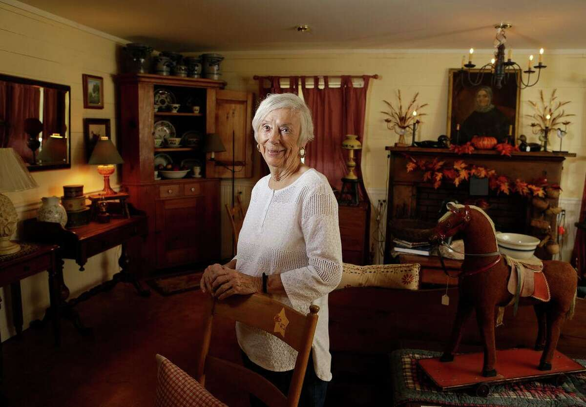 Nancy Krause, owner of Nancy's Antiques, 509 W. Chauncy, in Brenham, may be the last living antiques dealer who was at Emma Lee Turney's first Round Top antiques show in 1968.