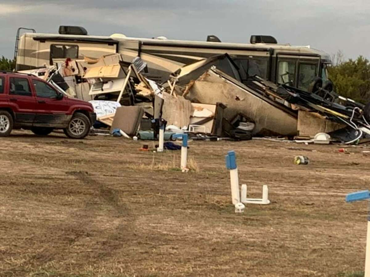 On its Facebook account, Randall County Sheriff's Office posted photos of the damage caused by the tornado that hit the Texas Pandhandle area Saturday.