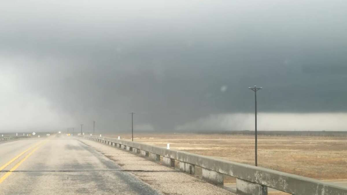 Here's a snapshot of a video the office posted of the tornado.