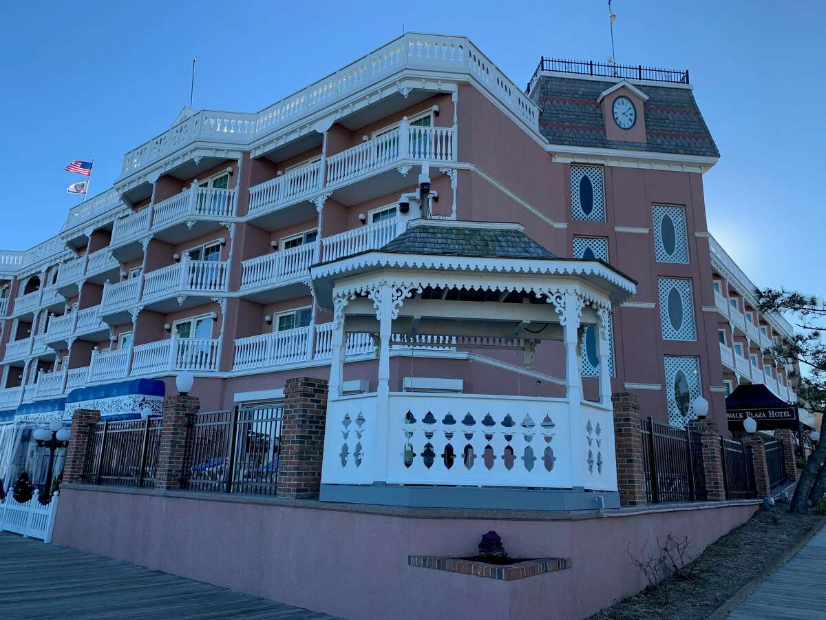 The Boardwalk Plaza Hotel in Rehoboth Beach, right near the water.