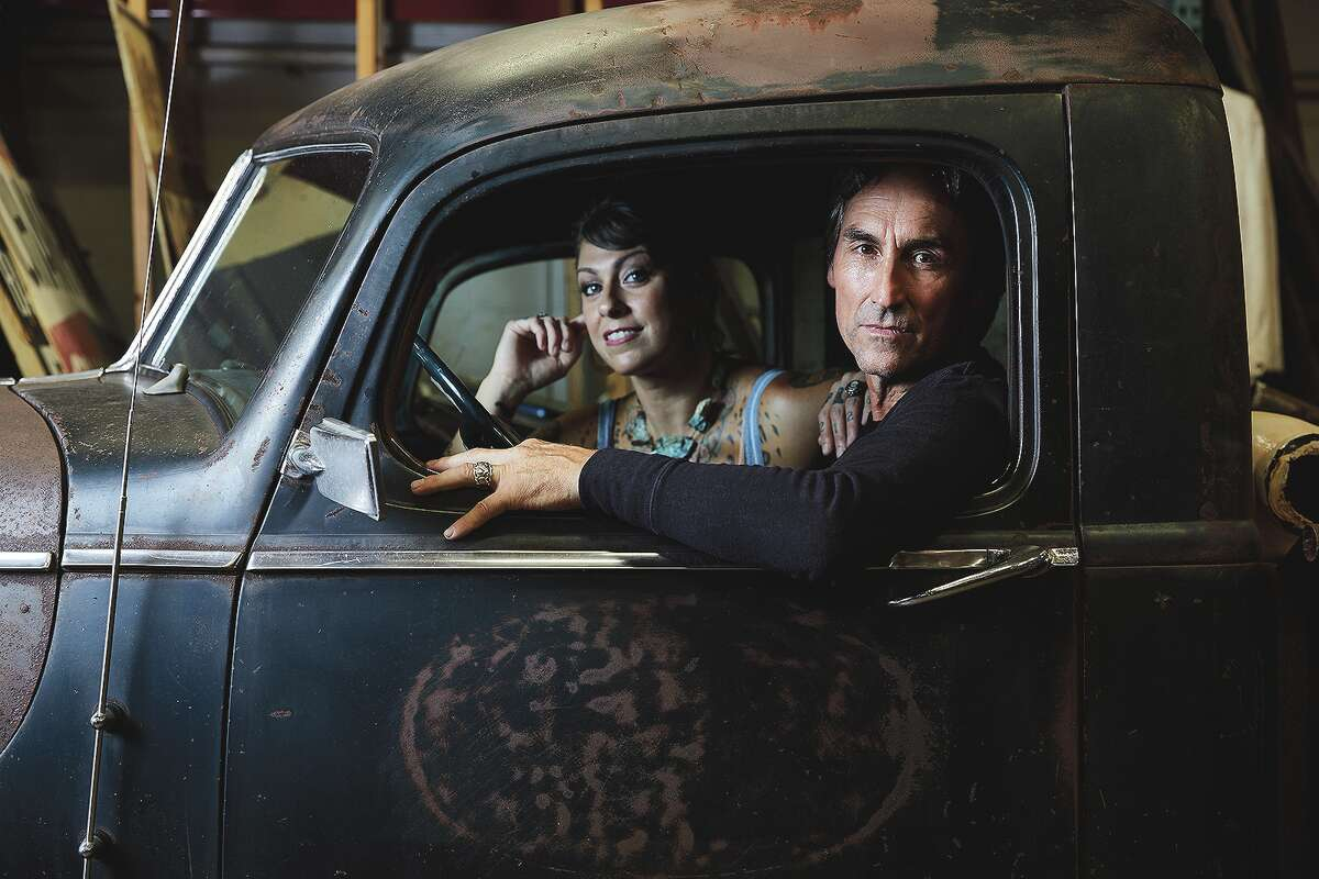 """Mike Wolfe and Danielle Colby are seen in """"American Pickers."""""""