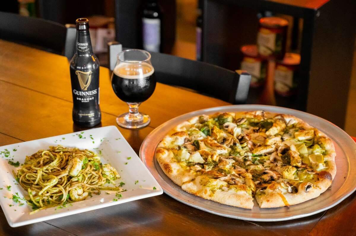 VOLARE ITALIAN RESTAURANT. Volare is offering $2 off Guinness on St. Patrick's Day. They will also be serving green dishes such as Sorgente Pesto Pasta. The specials will be from noon to 9 p.m. 3902 McCullough Avenue, 210-251-3424, volarepizzasa.com