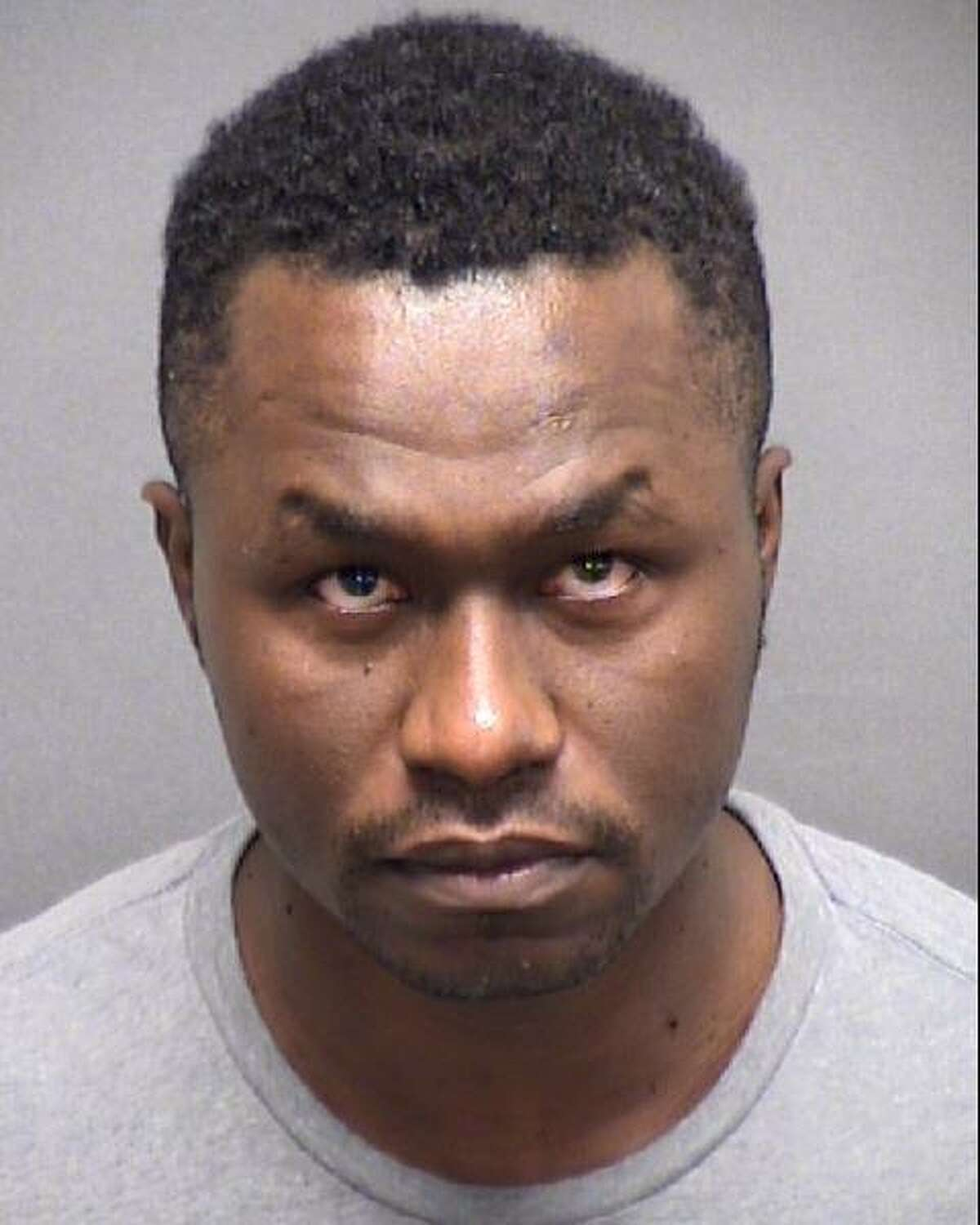 Andre Sean McDonald is seen in a July 13, 2019 booking photo provided by the Bexar County Sheriff Department. McDonald, 40, an Air Force Reserve officer, was arrested July 13, and charged with murder in the death of his wife, Andreen McDonald, whose remains were found July 11. His bail was set at $2 million.