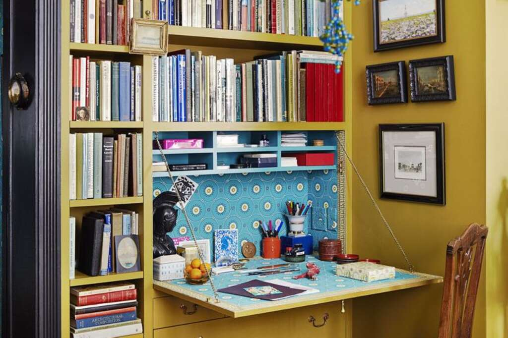 Whether you have a massivestudyor you're working out of a shoebox-sized linen closet, there are plenty ofstorage solutionsthat will help you
