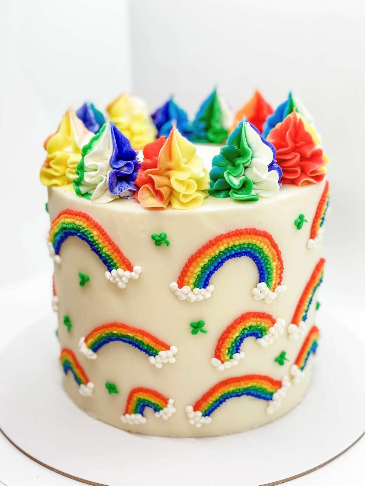 A custom rainbow cake from Cakes on 28th