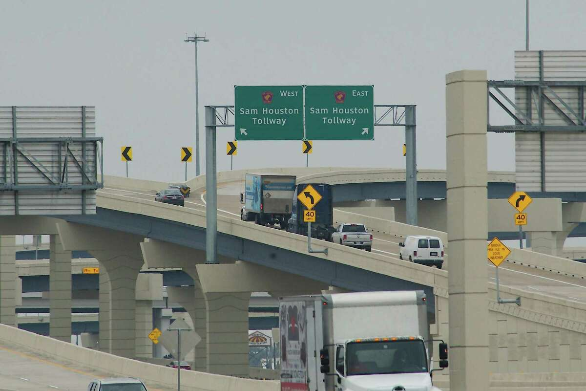 A network of ramps along Texas 288 leads traffic on and off toll lanes.