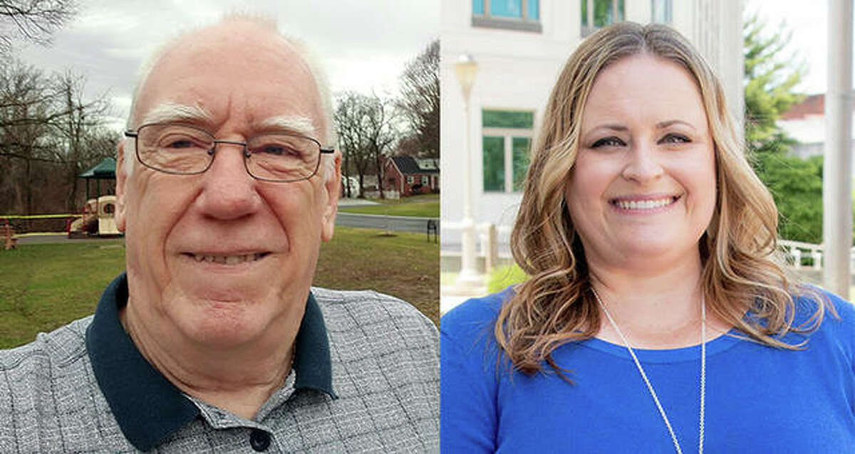 Larry Miller, left, and Jennifer Warren