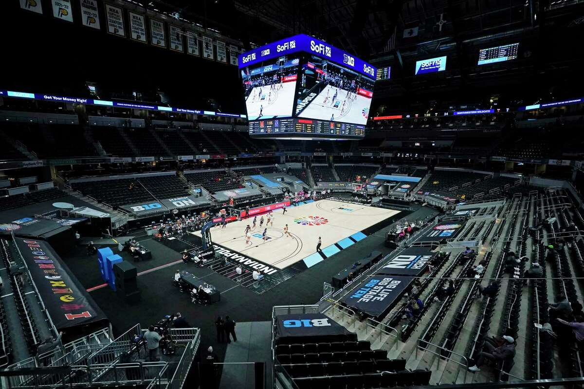 """The NCAA is attempting a """"bubble"""" setup that's not as stringent as what the NBA pulled off last summer. Multiple Indianapolis sites will be used, like Bankers Life Fieldhouse, above."""