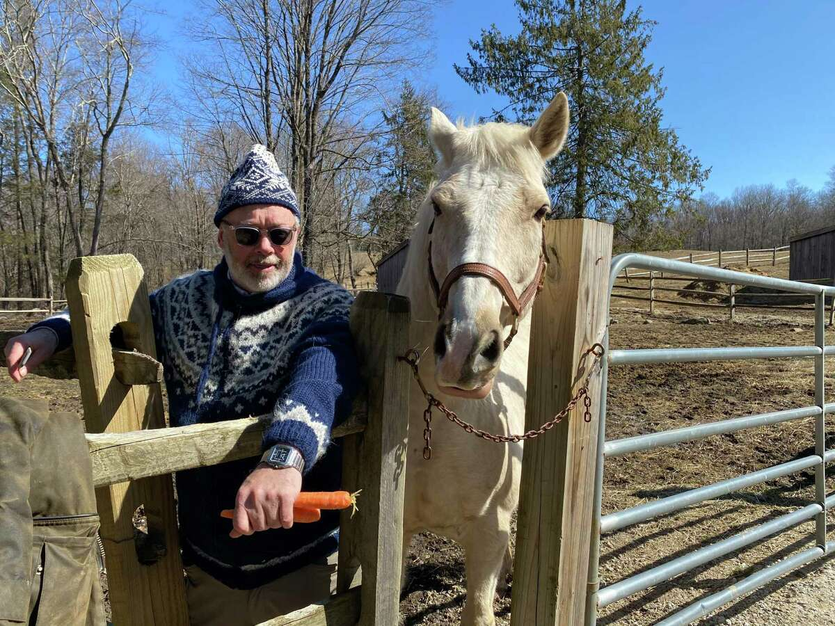 Peter Cleary of Southbury volunteers at HORSE of CT in Washington.