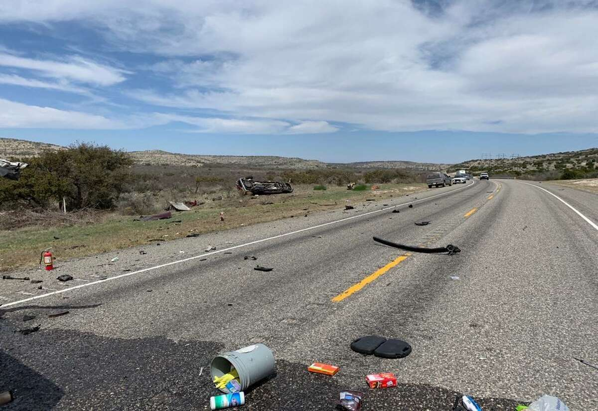 Eight people died after a head-on collision Monday in Val Verde County, officials said.