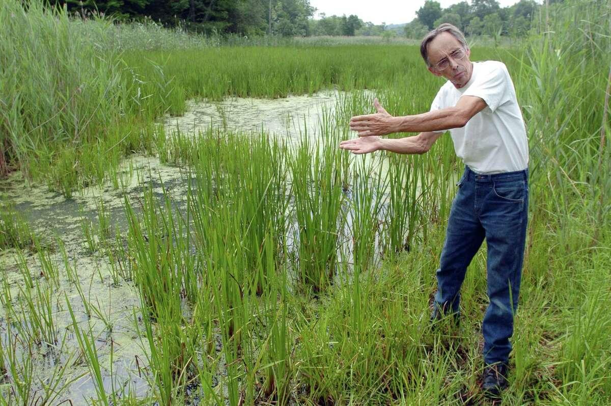 John O'Neill near Ivy Island in Bethel, Conn., in July 2010.