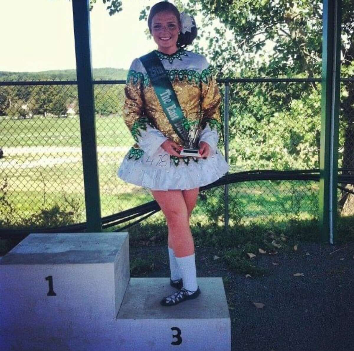 Savage's daughter Kathleen competing in a Feis
