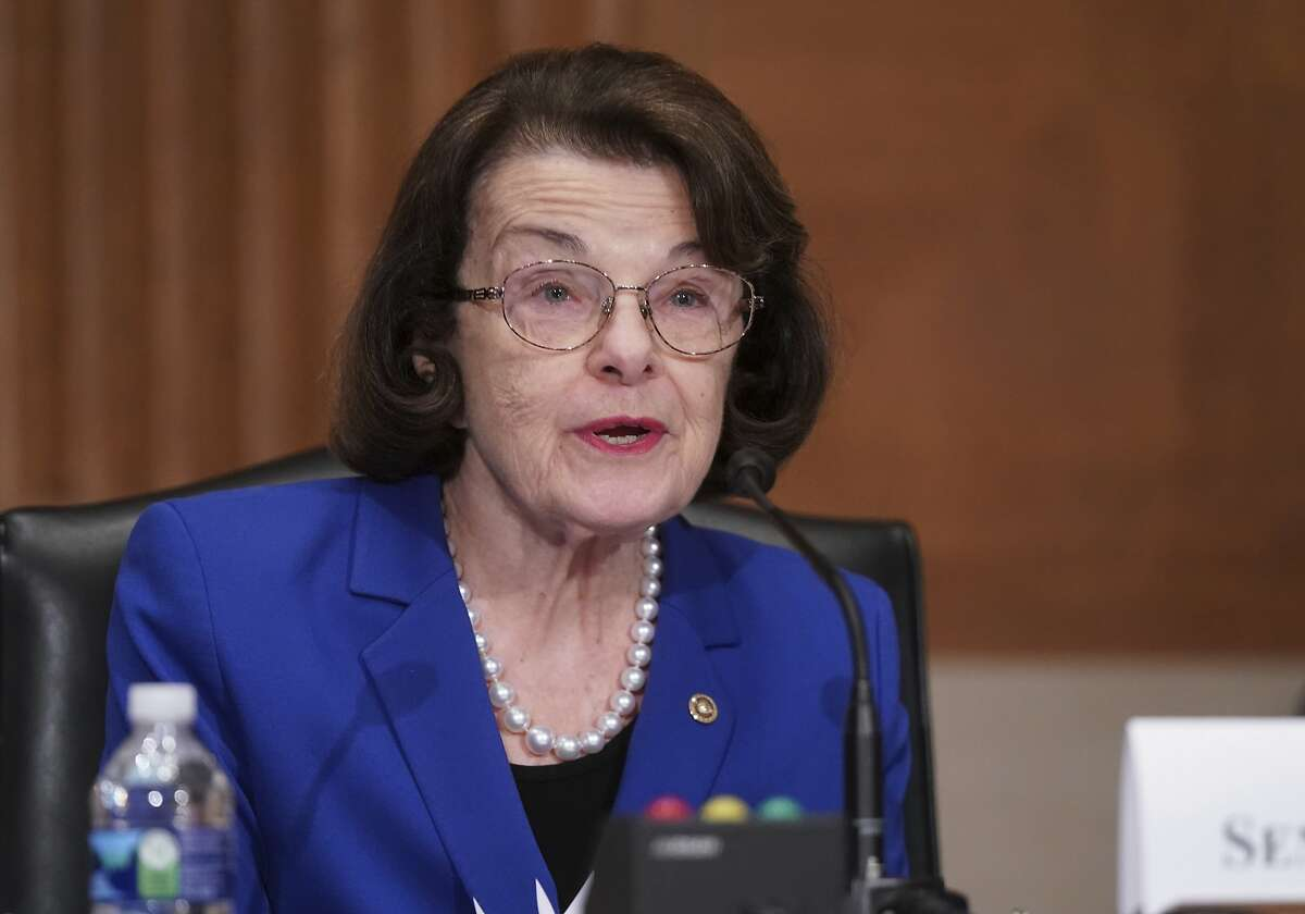 Sen. Dianne Feinstein, D-Calif., at a Senate committee hearing Feb. 23, 2021.