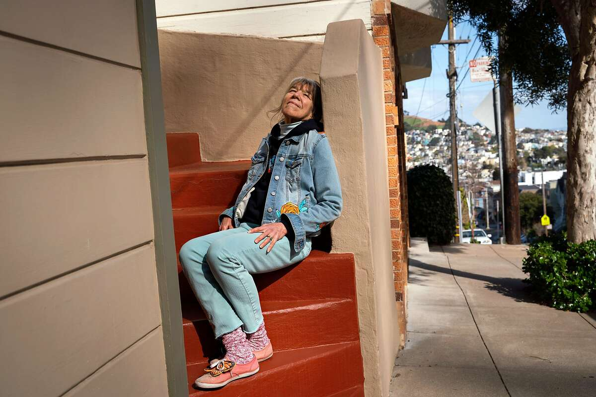 ?Patricia Rose, 70, sits for a photo during her walk near Billy Goat Hill in San Francisco, Calif., on Monday, March 8, 2021.