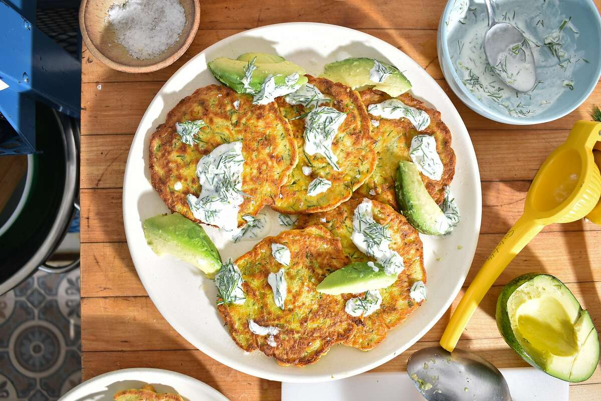 These chickpea dill pancakes make a delightful lunch or dinner.