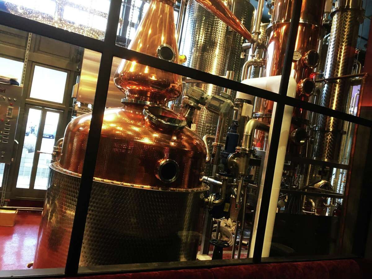 The main floor at Devils River Distillery has a clear view of the equipment used to make the spirits.