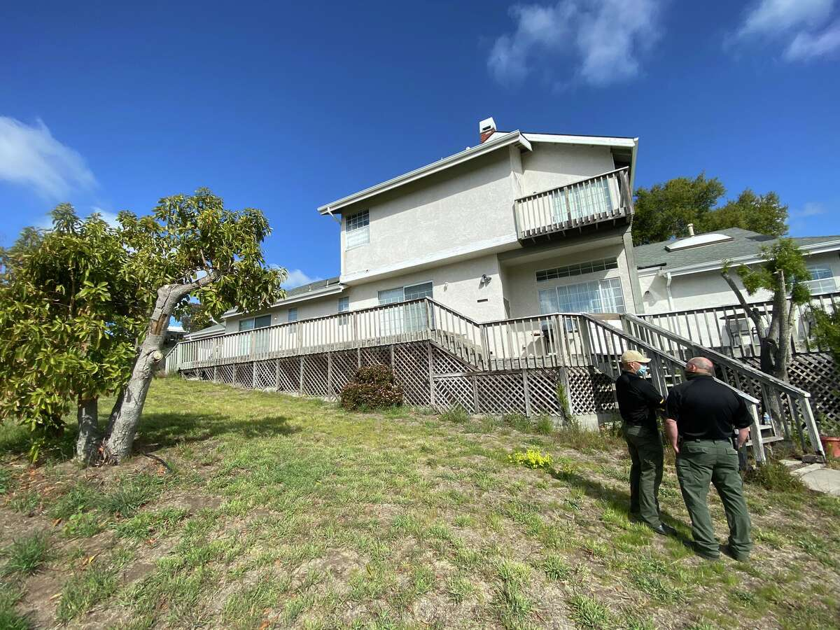Deputies from the San Luis Obispo County Sheriff's Office searched the home of Ruben Flores, father of Paul Flores, in Arroyo Grande, Calif., on March 15, 2021. Paul Flores is the prime suspect in the 1996 disappearance of Cal Poly student Kristin Smart.
