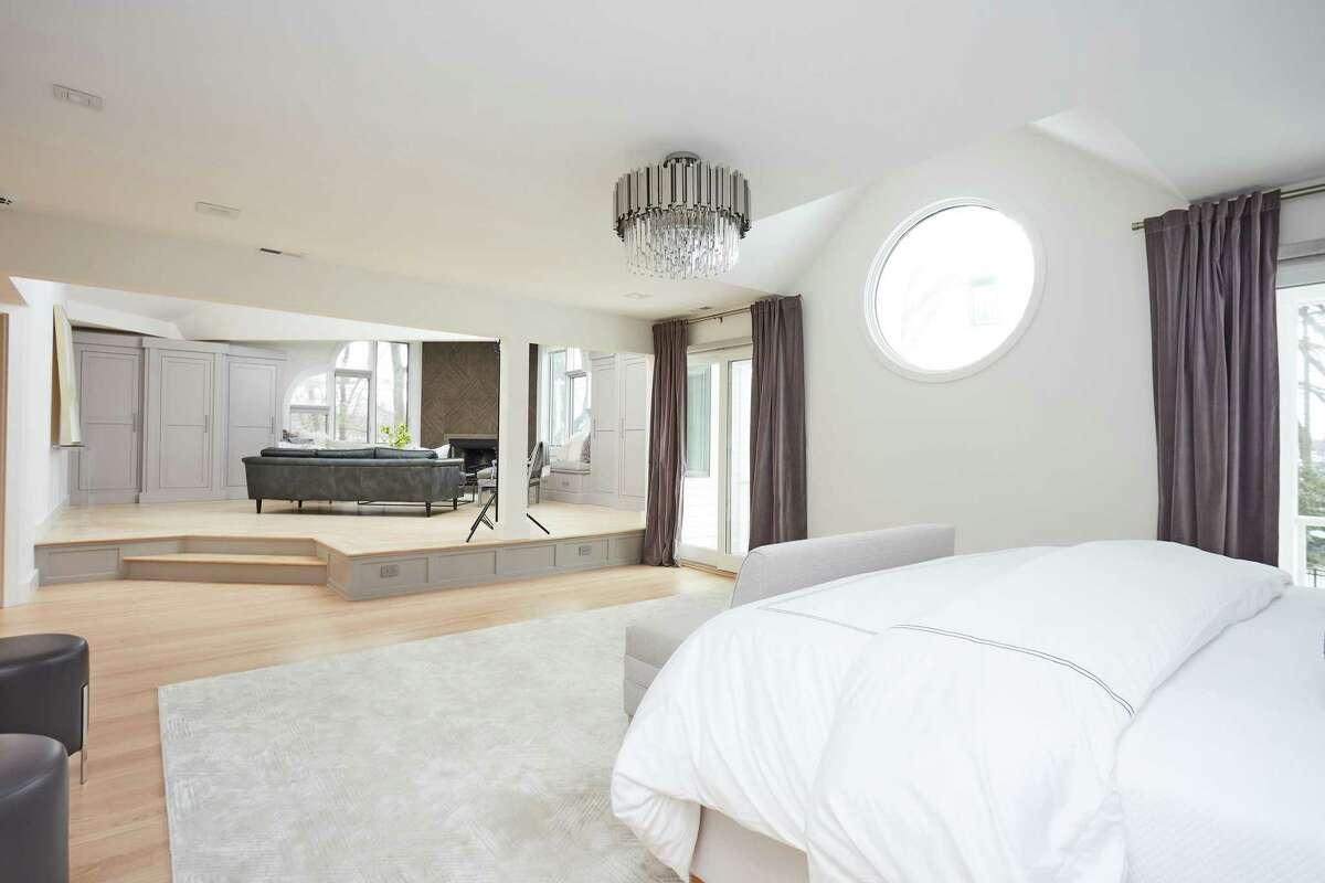 Master bedroom suite with raised sitting area at 1 Imperial Landing, Westport.